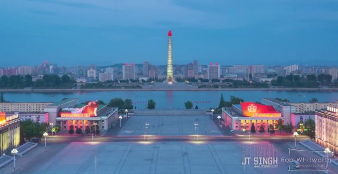 Timelapse aus Nordkoreas Hauptstadt Pyongyang