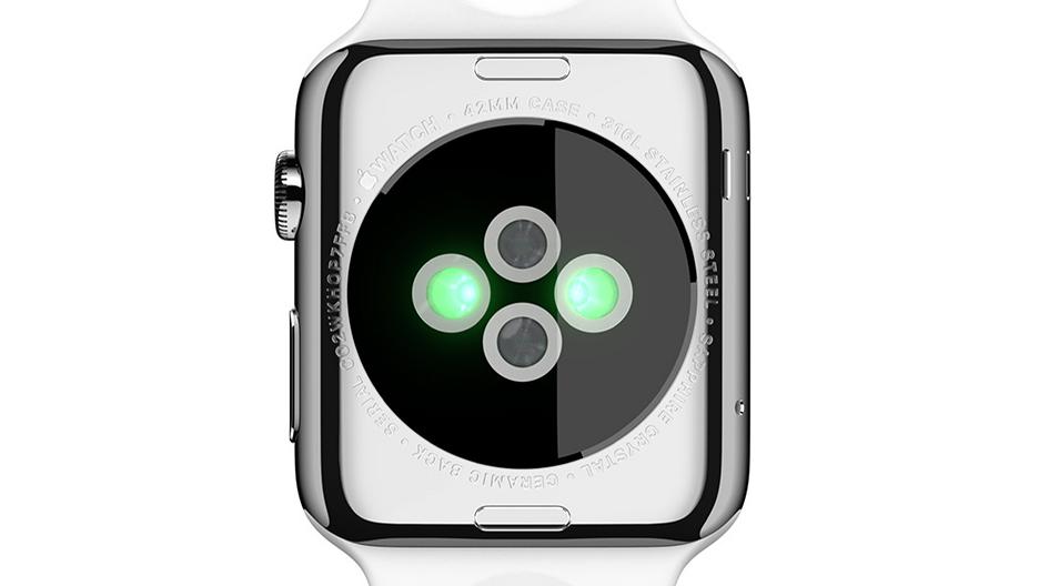 Apple Watch mit Sensoren auf der Rückseite