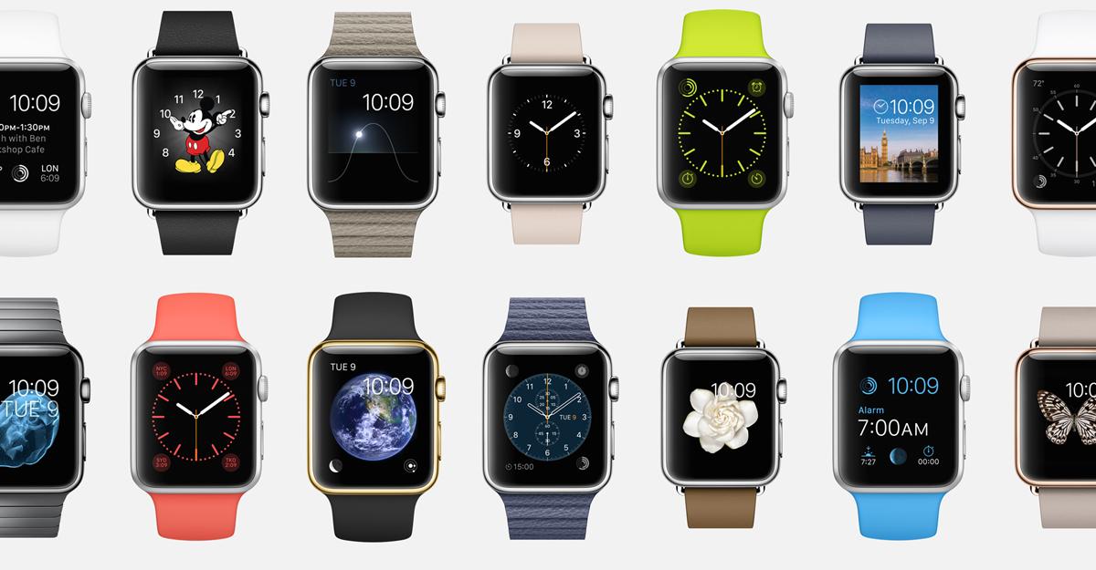Zahlreiche Varianten der Apple Watch sind möglich