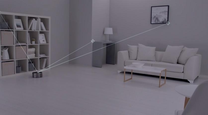 Dyson 360 Eye erkennt die Umgebung