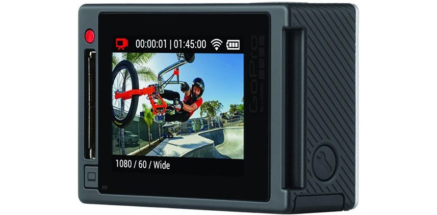 GoPro Hero4 Black Edition mit eingebautem Touch-Screen-Display