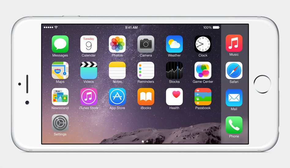 iPhone 6 Landscape Mode