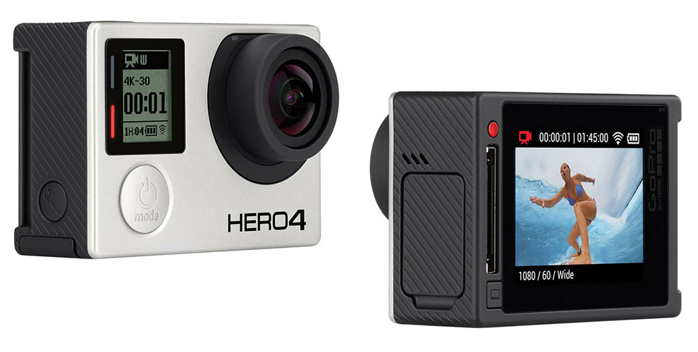 GoPro Hero 4 Silver mit LCD Touchscreen
