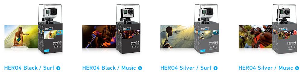 Hero 4 Black & Silver Editions Surf und Music