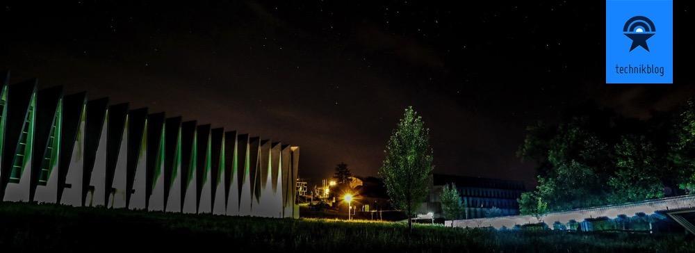 Nachtaufnahme bei der Mülimatt Turnhalle