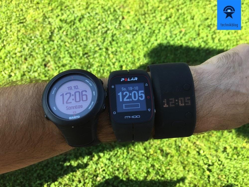 Trainingsuhren-Vergleich: Suunto Ambit 3, Polar M400 und Adidas Fit Smart