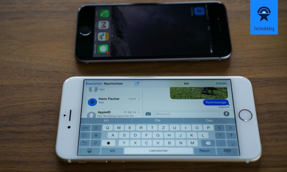 Das iPhone 6 Plus hat einen Landscape Modus