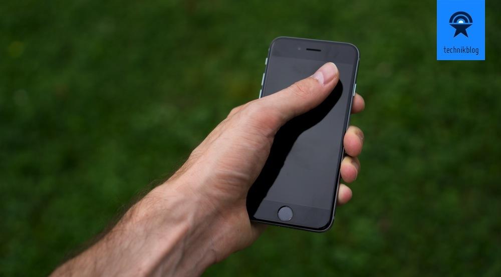 Beim iPhone 6 erreiche ich mit meinem Daumen gerade noch alle Ecken...