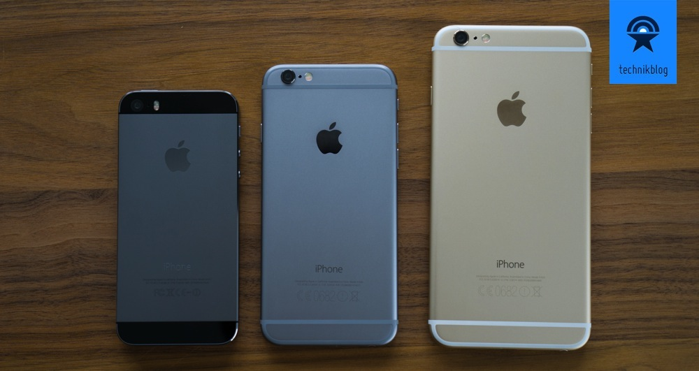 iPhone 5, iPhone 6 und iPhone 6 Plus