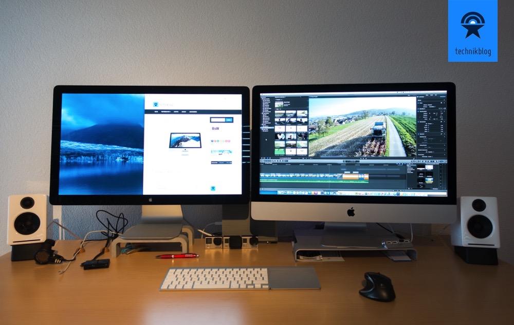 Apple iMac mit Retina 5K Display und Thunderbolt Cinema Display