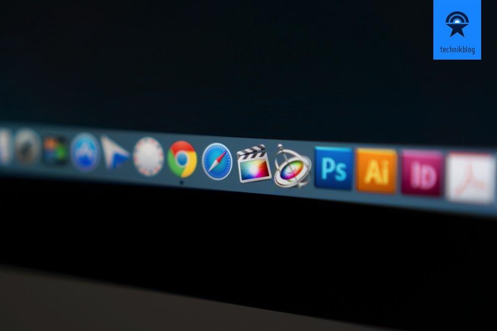 Die hohe 5K-Auflösung ist auch schon im Dock von OS X Yosemite zu erkennen.