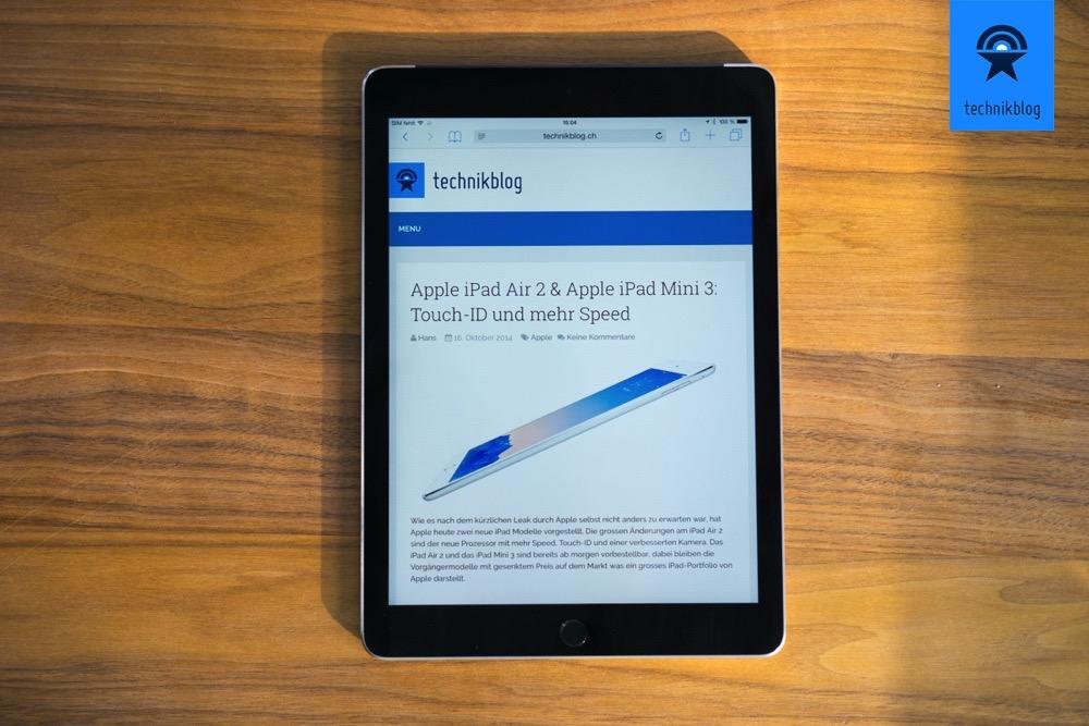 Apple iPad Air 2 Testbericht