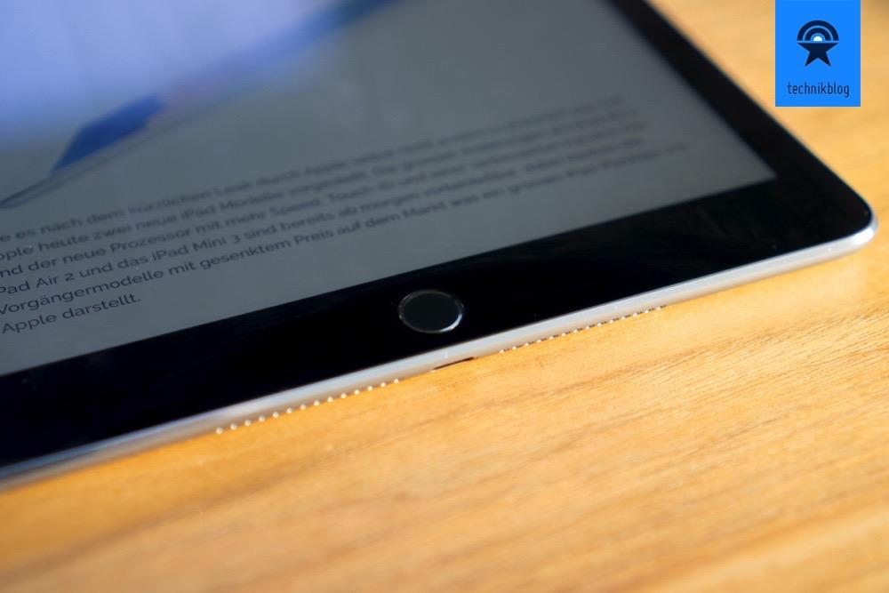 Das Apple iPad Air 2 hat auch wie das iPhone Touch-ID.