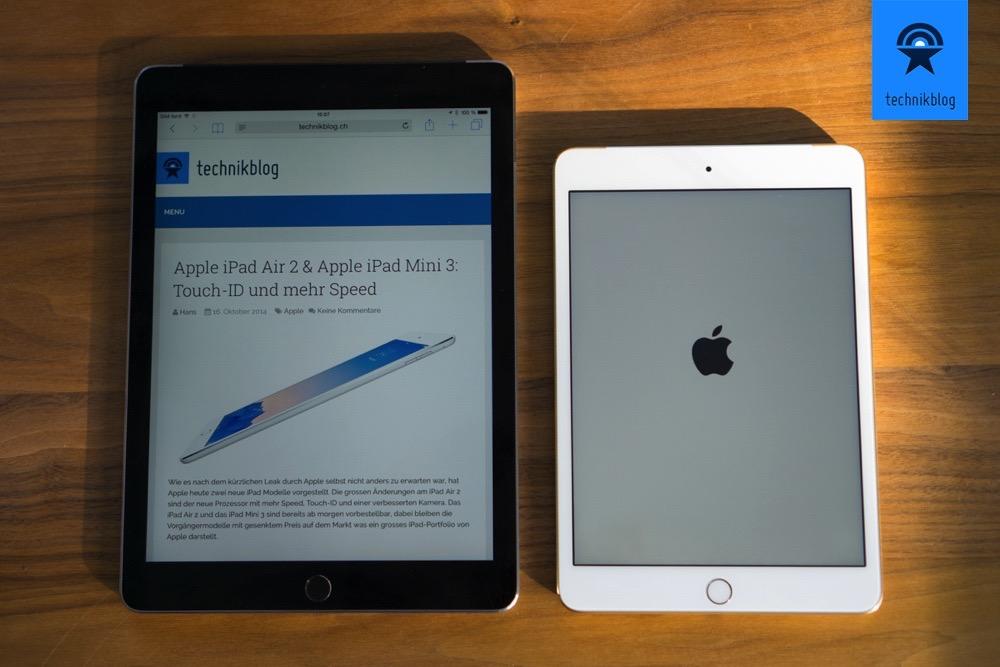 Das neue iPad Air 2 und das iPad Mini 3