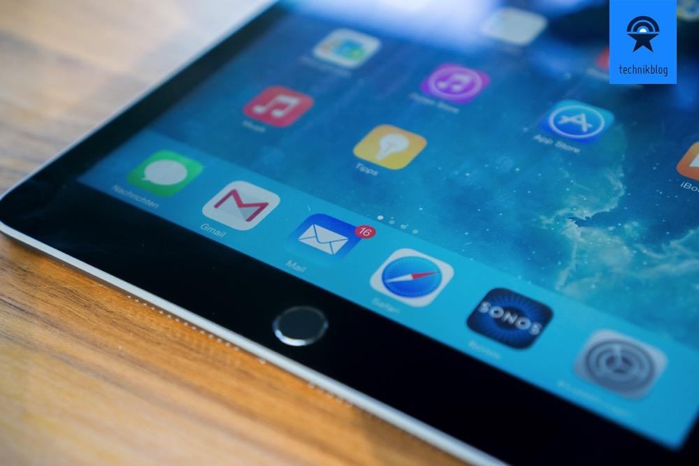 Apple iPad Air 2 mit dem Retina Display überzeugt durch weniger Spiegelungen