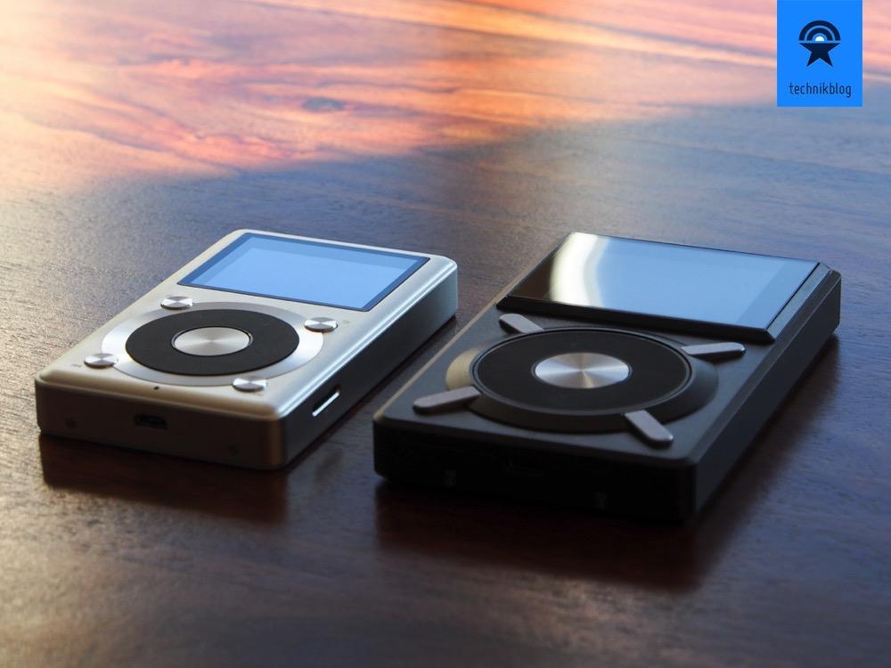 Der Fiio X1 (links) und der grosse Bruder X5