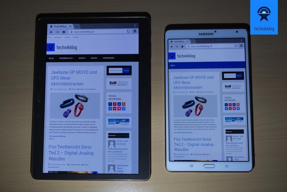 Samsung Galaxy Tab S - Pluspunkt Display