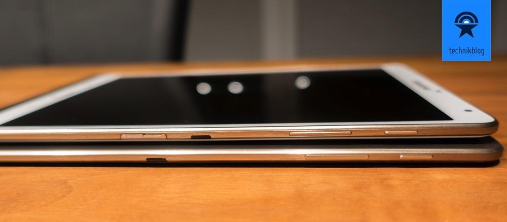 Samsung Galaxy Tab S - seitliche Bedienelemente