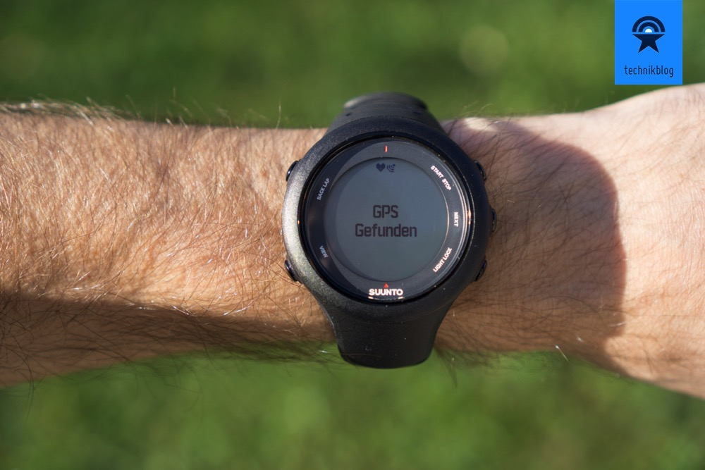 Die Suunto Ambit3 Sport findet das GPS Signal sehr schnell!