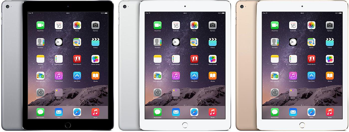 iPad Air 2 Farben