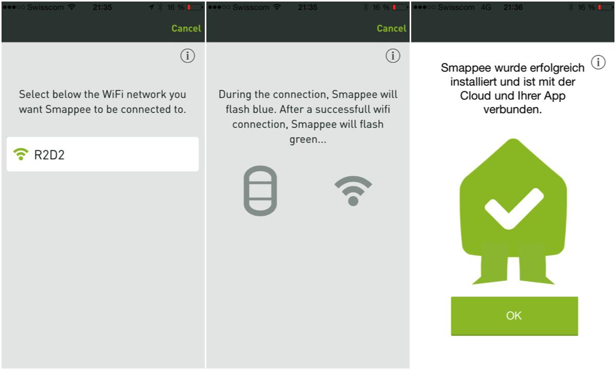 Smappe Installation mittels App