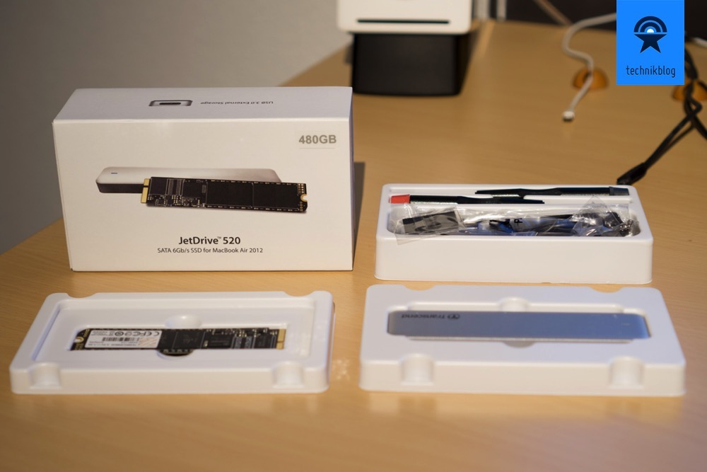 Lieferumfang: Transcend JetDrive SSD Upgrade Kit fuer MacBook Air