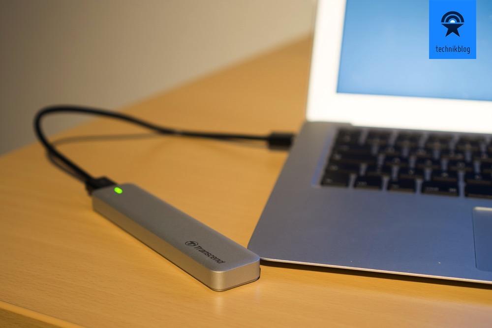 Die alte MacBook Air SSD dient nun als schnelle USB 3.0 Festplatte.