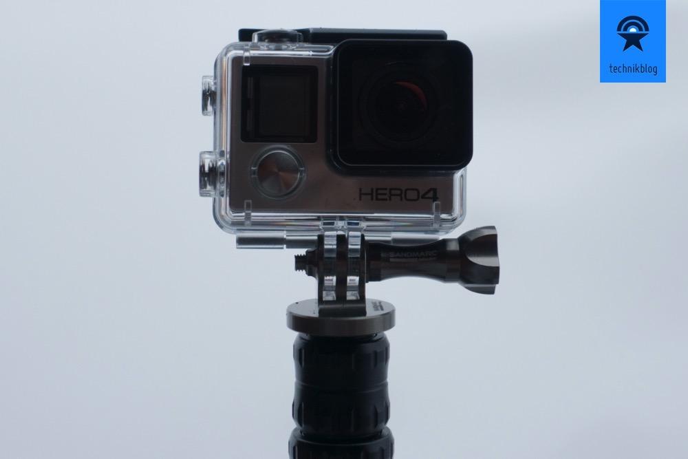 GoPro Hero4 Black mit der Sandmarc Pole