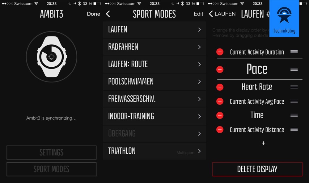 Ambit3 über die Movescount App konfigurieren