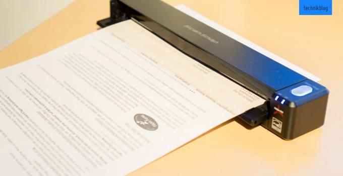 Der Fujitsu ScanScnap iX100 im Einsatz
