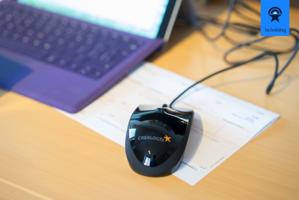 Die CLX.ScanMouse scannt Einzahlungsscheine perfekt.