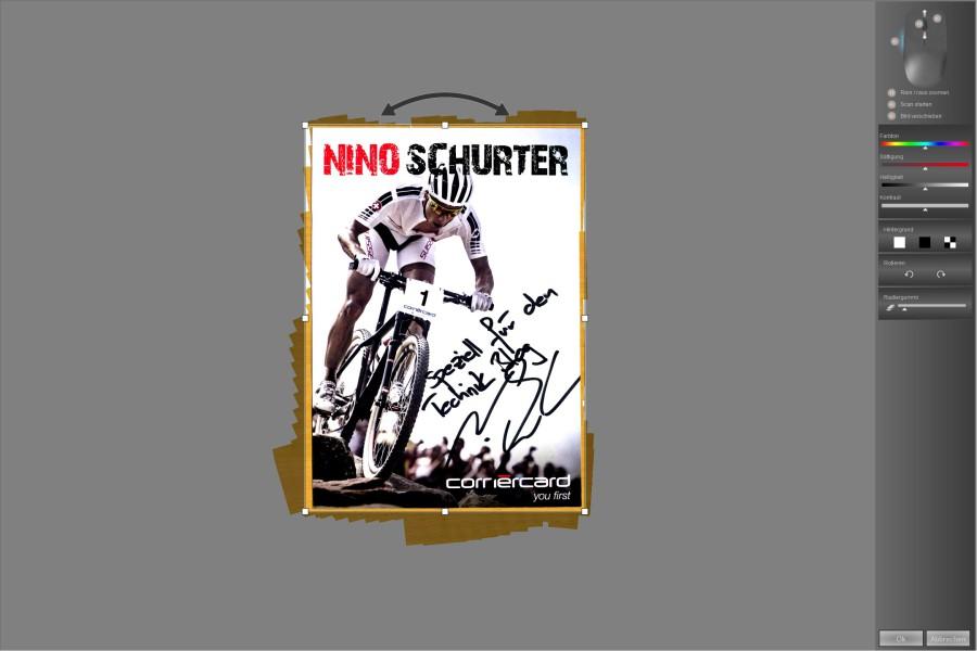 CLX.ScanMouse Scan Beispiel - Nino Schurter Autogrammkarte