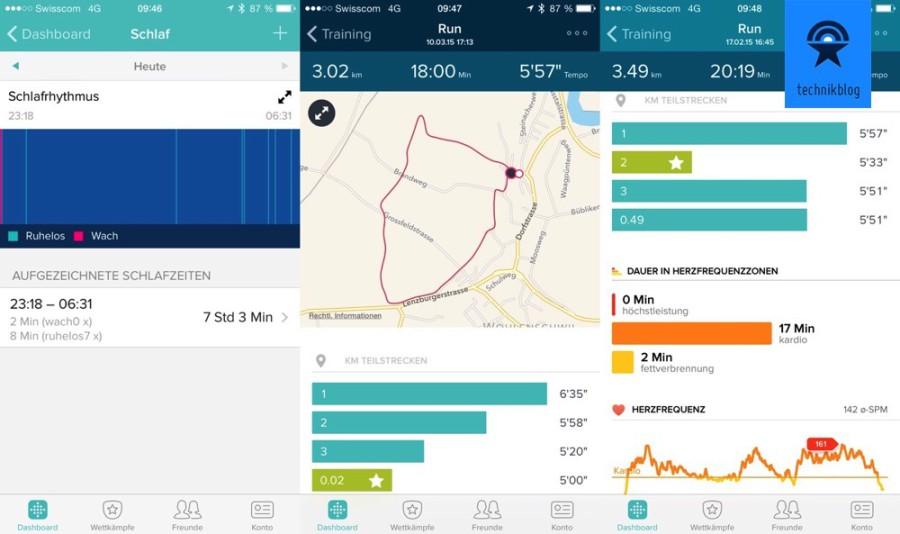 Fitbit Surge misst Schlafverhalten und dient als GPS-Trainingsuhr