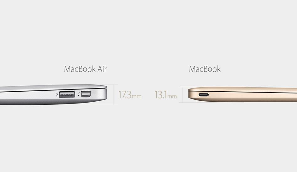 MacBook ist dünner als das bisherige MacBook Air