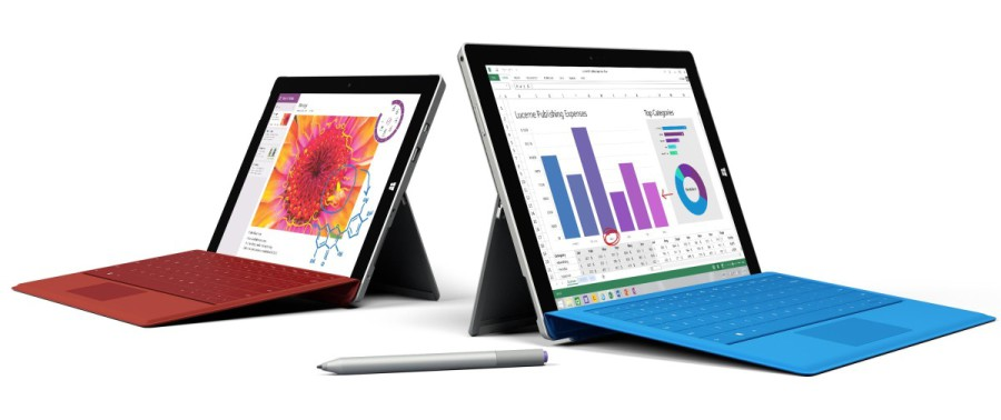 Microsoft Surface 3 neben dem Surface Pro 3