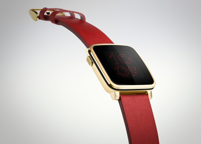 Pebble Time Steel in Gold