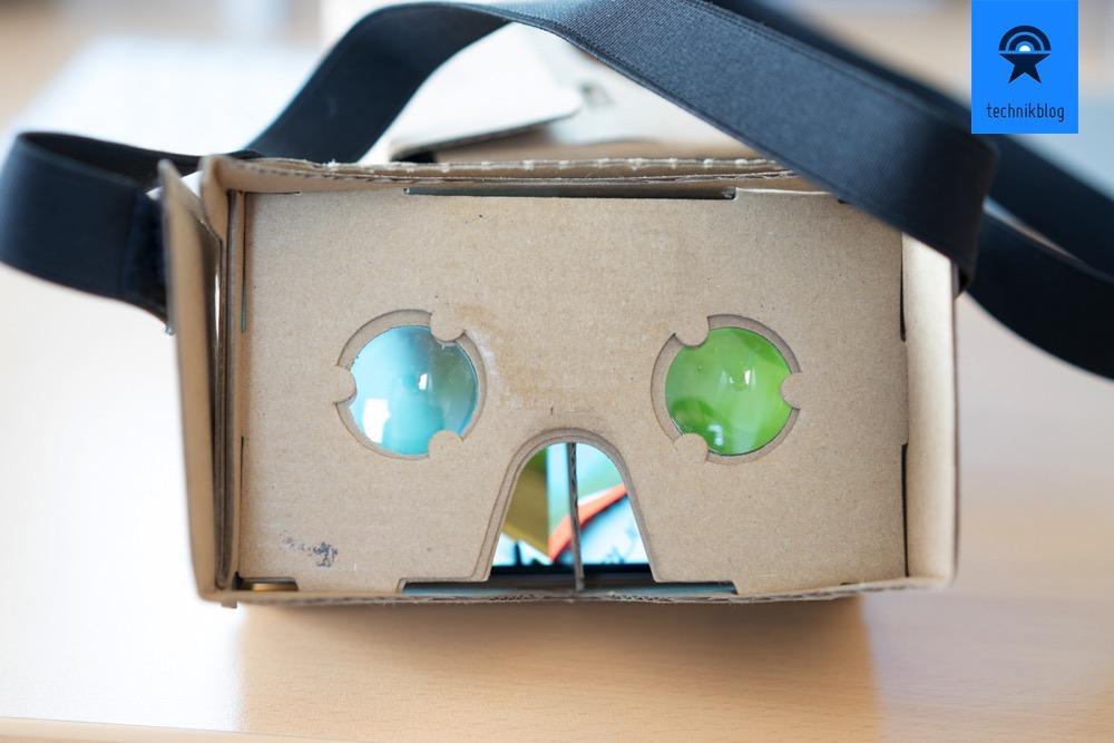 Virtueller Durchblick mit dem VR Cardboard.