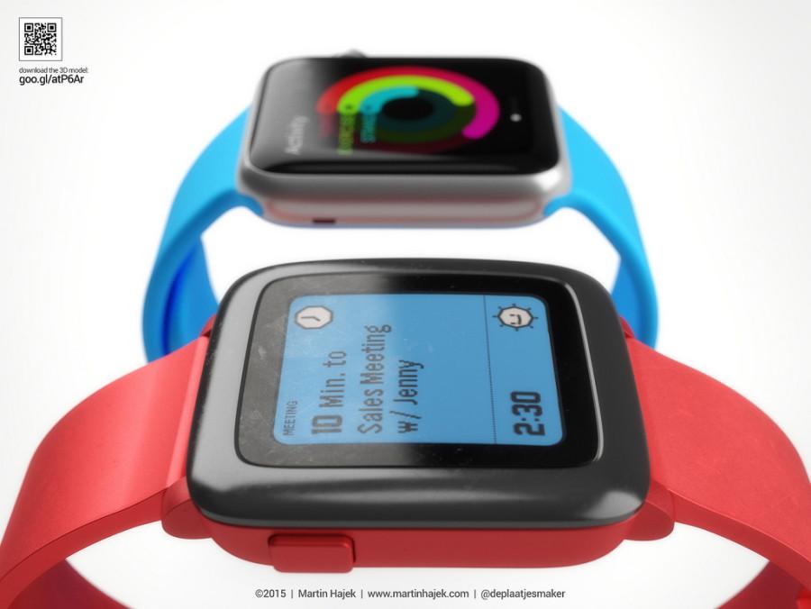 Vergleichsgrafiken Apple Watch vs Pebble Time von Martin Hajek - 1