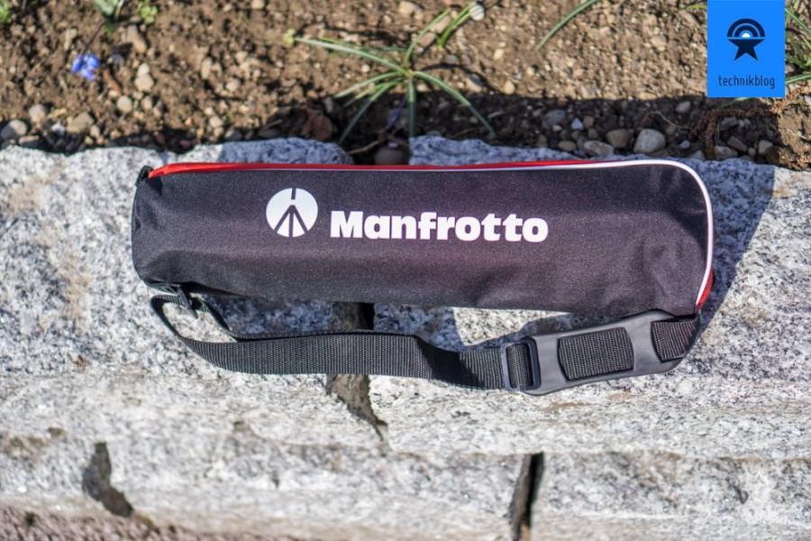 Eine Stativtasche gehört auch zum Lieferumfang des Manfrotto BeFree.