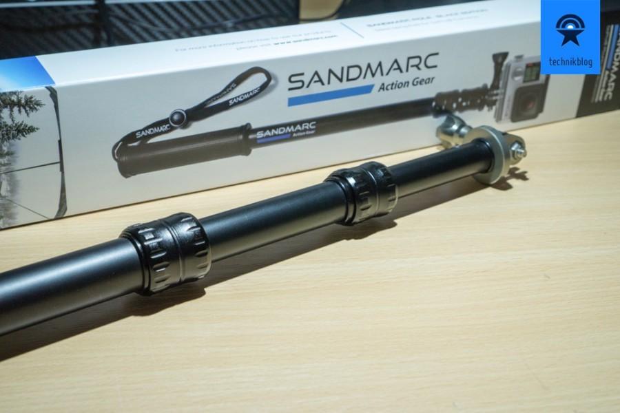 Beide Pole sind zweimal ausfahrbar und aus Aluminium gefertigt und sehr stabil.