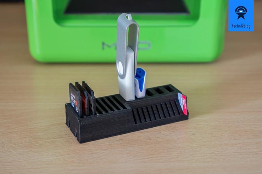 M3D Printer Beispiele: Speicherkarten-Halter