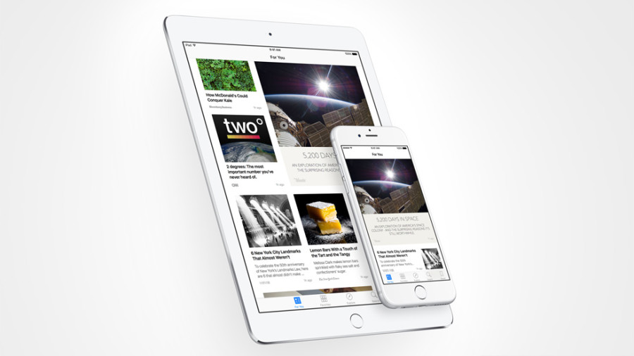 News App in iOS 9