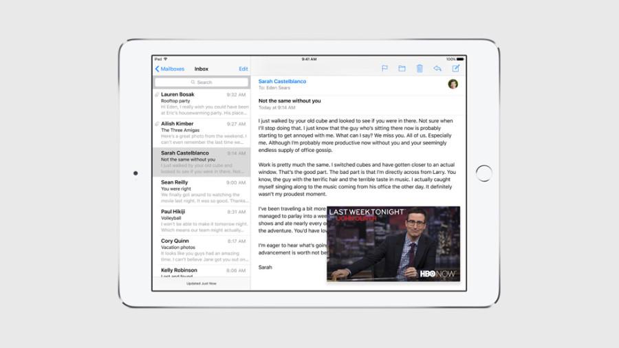 Picture in Picture auf iOS 9 auf dem iPad