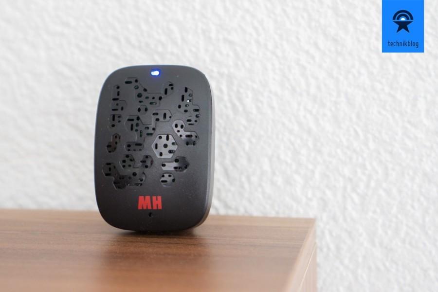 maxSmart Air Sense misst Temperatur und Luftfeuchtigkeit