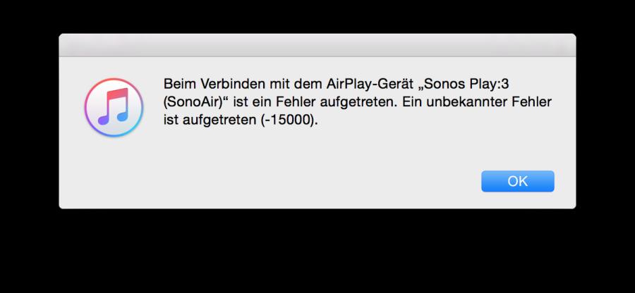 Abspielprobleme - SonoAir ist noch im Beta Status