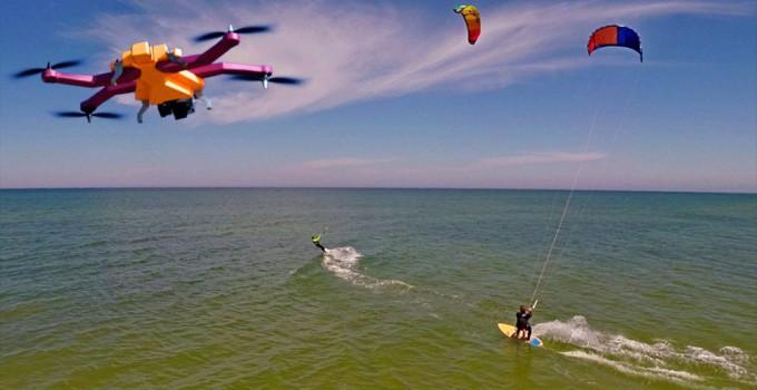 AirDog beim Kiten