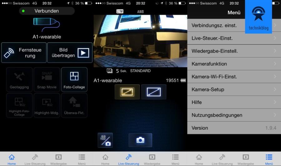 HX-A1 iPhoen App Screenshots