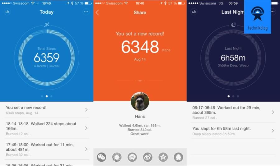Xiaomi MitFit App
