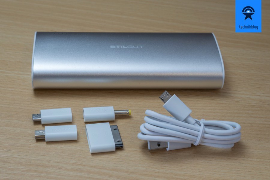 Stilgut Power Bank mit Lade-Adaptern