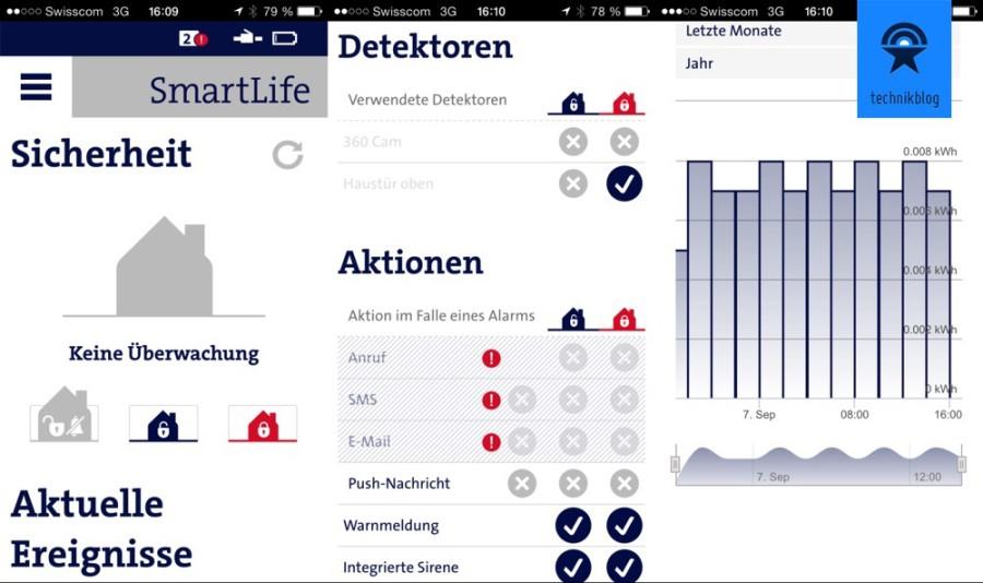 Swisscom SmartLife App Screenshots